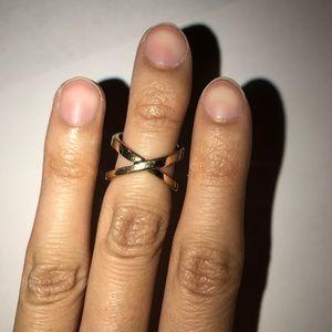 H&M Criss Cross Gold Midi Ring